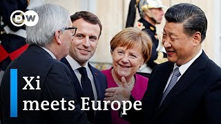 Download Deals and diplomacy: European leaders meet China's Xi | DW News Video