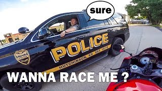 Download BIKER ASKING COPS TO RACE | COOL & ANGRY COPS | [Episode 80] Video