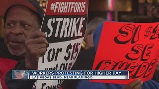 Download Las Vegas workers fight for a $15 minimum wage Video