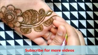 Download stylish simple mehndi henna designs for hands for beginners:mehndi designs for hands Video