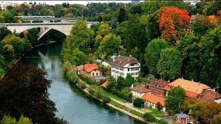 Download Beautiful Views Of Basel City Switzerland. Video