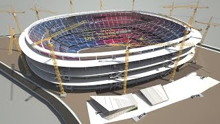 Download NEW CAMP NOU - Phased construction while continuing to play matches Video