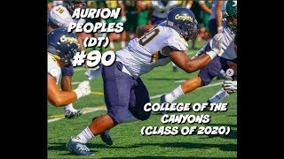 Download Aurion Peoples Freshman JUCO Highlights #90 || College of the Canyons (Class of 2020) Video