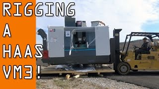 Download Unboxing, Rigging and Placing our HAAS VM3 CNC Machine! Video