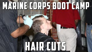 Download Marine Corps Boot Camp Initial Haircuts Video
