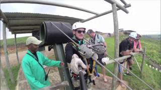 Download Stuntman opens extreme zip-line in Oribi Gorge Video