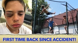 Download TRAMPOLINE ACCIDENT! 🤕 | Christian Lalama Video