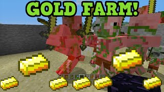 Download Minecraft Xbox 360 + PS3 Gold Farm Tutorial - Zombie Pigman Farming Video
