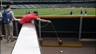 Download Snagging 20 baseballs *AGAIN* at Safeco Field!! Video