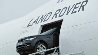 Download Driving the new Range Rover Sport through a Boeing 747 Video