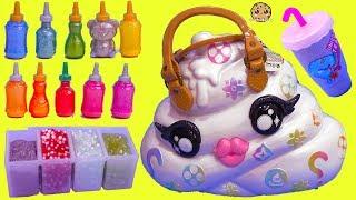 Download Giant Surprise Pooey Puitton Craft Bag Kit ! DIY Make Glitter + Crunchy Slime Video