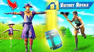 Download Hiding as a SCARECROW In Fortnite Battle Royale! Video