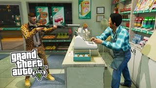 Download GTA 5 Online ROBBING CHALLENGE! Robbing All Stores in GTA 5! (GTA 5 PS4 Gameplay) Video