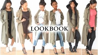 Download How I Wear My Long Khaki Jacket | LOOKBOOK Video
