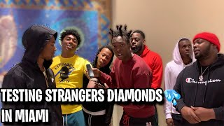 Download TESTING STRANGERS DIAMONDS🥶💎 FT. FREDO BANG MIAMI MALL EDITION | *NEW PUBLIC INTERVIEW* Video