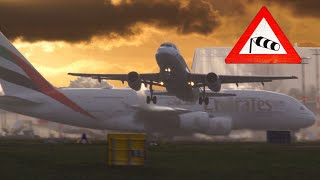 Download 5 h plane spotting at DUS after a storm with crosswind landings & takeoffs - chronologic in 20 min Video