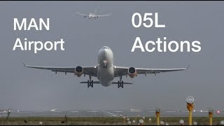 Download 9 Impressive Modern Aircraft arrivals and departures at Manchester Airport Video