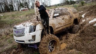 Download Lacey Blair Takes Her SEMA Escalade Mudding!!!!!!!! Video