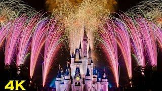 Download (4K) Disney Celebrate The Magic & Wishes Fireworks Display - Walt Disney World Florida Video