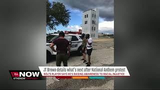 Download JT Brown taking action after anthem protest Video