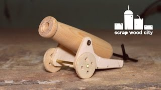 Download How to make a mini wooden toy canon Video