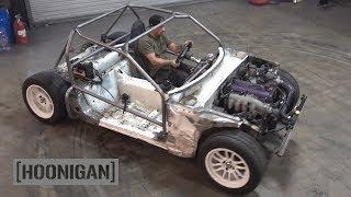 Download [HOONIGAN] DT 190: $200 Miata Kart Build [Part 6] - Cage Build and Indoor Donuts Video