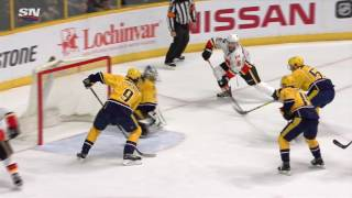 Download Giordano banks goal in off Forsberg and Flames win in OT Video