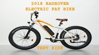 Download 2018 RADROVER ELECTRIC FAT RAD POWER BIKE 02 Test Ride Video