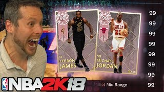 Download 99 RATING on EVERYTHING! MAXED OUT LEBRON & JORDAN! NBA 2K18 Video