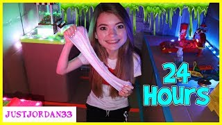 Download 24 Hours In Box Fort Arcade! Slime Making Challenge! / Justjordan33 Video