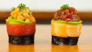 Download Spicy Tuna Salmon Sushi Roll - Beautiful Food Recipe Video