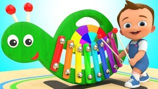 Download Learn Colors for Children with Baby Wooden Snail Xylophone Toy Set 3D Kids Toddlers Educational Video