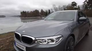 Download [4k] G30 BMW 540i xDrive LIGHTS ON EXTERIOR view colour is Bluestone metallic Video