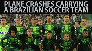 Download Plane Crashes Carrying a Brazilian Soccer Team Video