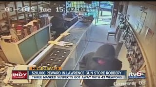 Download $20,000 reward offered in Lawrence gun store robbery Video