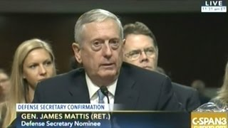 Download General Mattis Confirmation Hearing To Be Secretary Of Defense Video