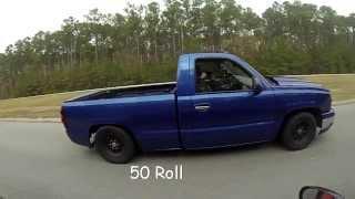 Download 76mm turbo silverado vs 03 mustang cobra w/75 shot Video