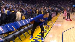 Download KD Calls No Catch on Clark to Curry TD | Pre-game Warmups | 12.01.16 Video