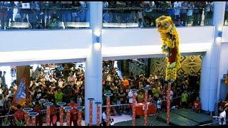 Download 2017 跳桩舞狮锦标赛 Acrobatic Lion Dance Championship @ Gamuda WALK ~02 森州文丁军警龙狮团 (4K) Video