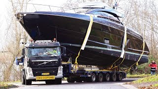 Download Slippery Yacht Loading / Heavy Haulage to the Pontoon | Boot 2019 Video