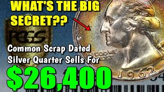 Download $26,400 Paid For A 1962 Washington Quarter!! - Junk Silver Dated Monster!! Video