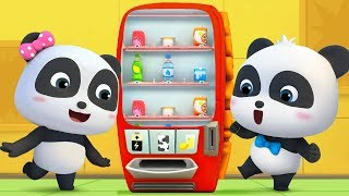 Download What's in Vending Machine? | Baby Panda's Cool Car | Magical Chinese Character | BabyBus Cartoon Video