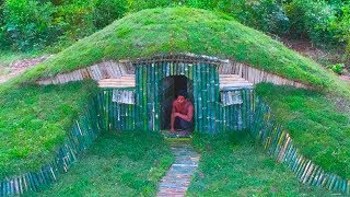 Download Unbelievable! A Small Hill become Beautiful Underground House Build by a Men - Hobbit House part 2 Video