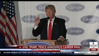 Download Full Event: Donald Trump, Mike Pence Carrier Plant Announcement 12/1/16 Video
