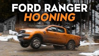 Download Hooning A New Ford Ranger Pickup Off-Road Video
