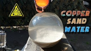 Download Molten Copper vs Sand and Water Video