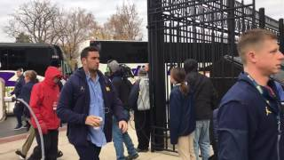 Download Michigan players arrive at Ohio State game Video