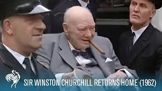 Download Sir Winston Churchill Returns Home from Hospital (1955) | British Pathé Video