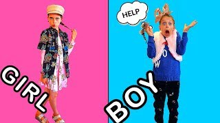 Download SIBLING CLOTHES SWITCH UP Points Challenge w/ The Norris Nuts Video