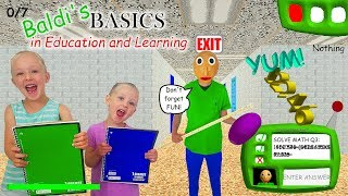Download Baldi's Basics in Real Life!!! 7 Notebook Scavenger Hunt & Scary Escape! Video
